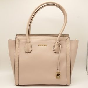 NWT MICHAEL KORS Mercer Tote Soft Pink Leather